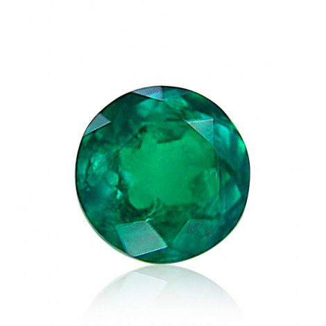 1 57 Carat Green Colombian Emerald Round Shape Sku 259720