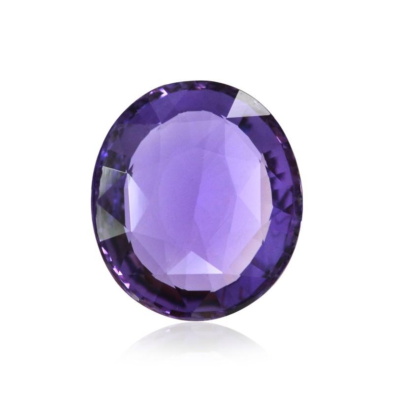Purple Oval Diamond