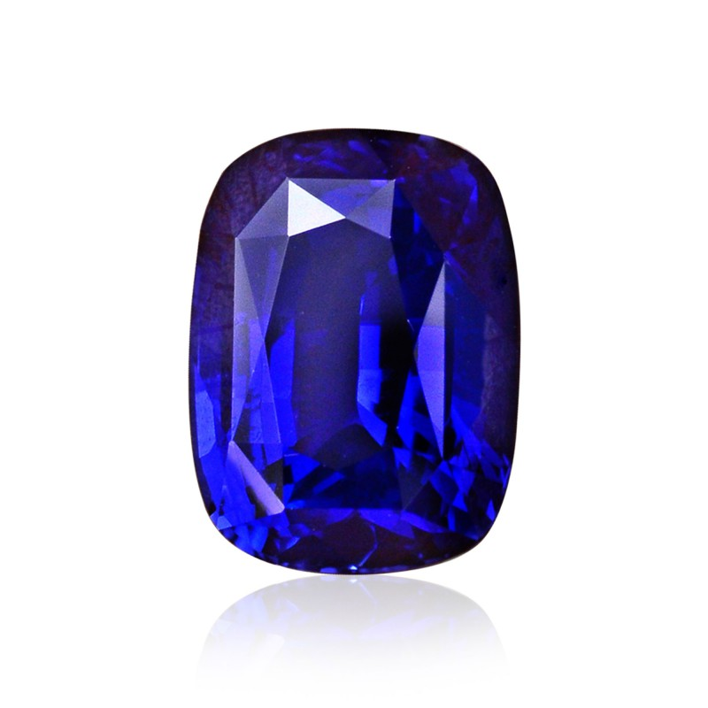 4 51 Carat Royal Blue Sri Lankan Sapphire Cushion Shape