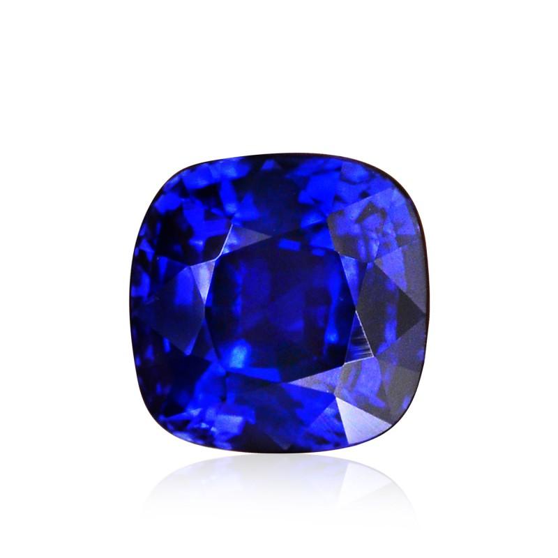 3 01 Carat Royal Blue Sri Lankan Sapphire Cushion Shape
