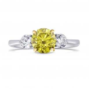3 Stone Ring Setting with Round Side Diamonds, SKU 1123S