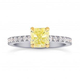 Four Prong Cushion Diamond & Pave Ring Setting, SKU 1132S