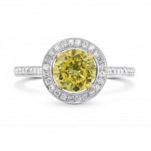 Vintage Style Milgrain Halo Diamond Ring Setting, SKU 1203S