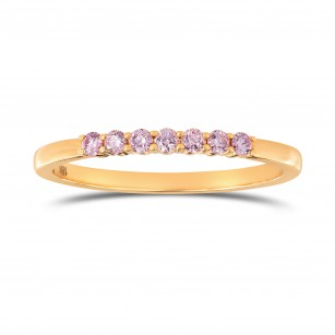 Fancy Pink Diamond Band Ring, SKU 135378 (0.14Ct TW)
