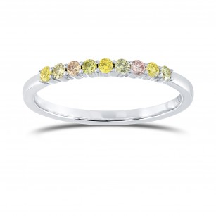 9 Stone Multicolored Diamond Stackable Band Ring, SKU 138152 (0.21Ct TW)