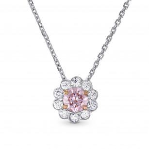 Fancy Purplish Pink Diamond Floral Halo Pendant, ARTIKELNUMMER 144924 (0,50 Karat TW)