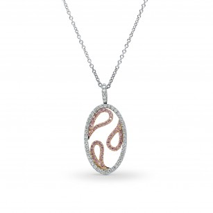 Destiny Fancy Pink and White Pave Pendant, SKU 157763 (0.30Ct TW)