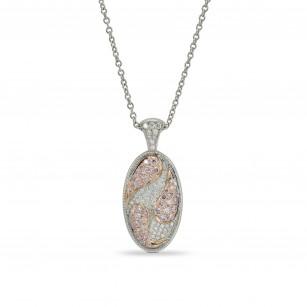 Pink and White Diamond Pendant, SKU 159098 (0.30Ct TW)