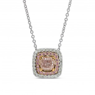 Light Pink Cushion Diamond Pendant, SKU 159118 (0.74Ct TW)