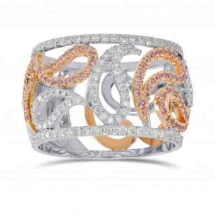 Pink and White Diamond Designer Ring, SKU 161386 (0.92Ct TW)
