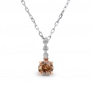 Fancy Deep Brown Round Diamond Pendant, SKU 162367 (0.55Ct TW)