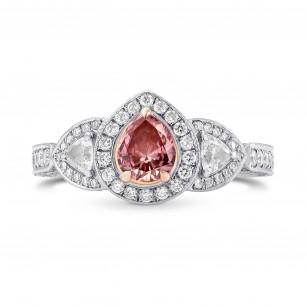 Fancy Intense Orangy Pink Pear Diamond Dress Ring, SKU 163690 (1.56Ct TW)