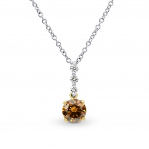 Fancy Deep Yellowish Orange Diamond Drop Pendant, SKU 165052 (0.58Ct TW)