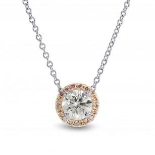 Round White and Pink Diamond Pendant, SKU 165872 (0.61Ct TW)