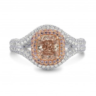 Fancy Brownish Pink Cushion Diamond Dress Ring, SKU 170488 (2.64Ct TW)