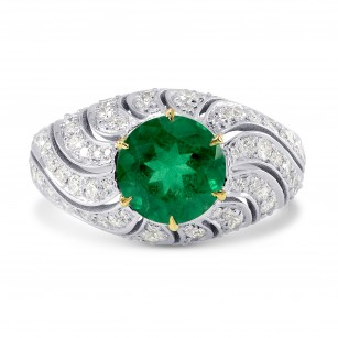 Vivid Green Round Emerald Designer Dress Ring, SKU 171620 (2.21Ct TW)