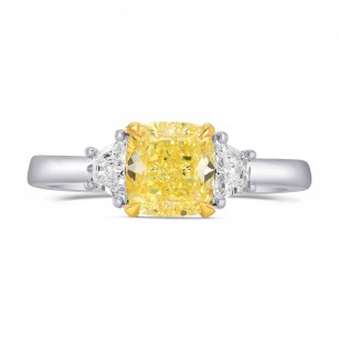 Three Stone Ring Setting with Trapezoid Diamonds, SKU 1729S