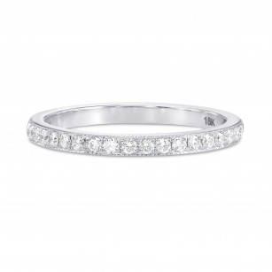 Diamond Half-Eternity Ring with Milgrain, SKU 184258 (0.17Ct TW)