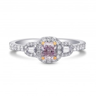 Petit Halo & Taper Diamond Ring Setting, SKU 1916S
