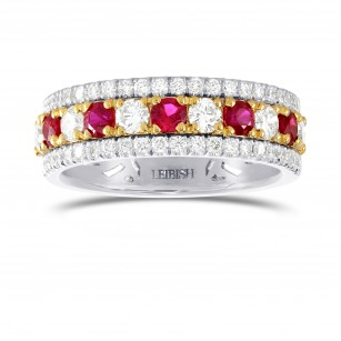 Ruby & Diamond Band ring, SKU 192351 (1.21Ct TW)