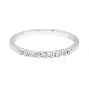White Diamond 9 Stone Band Ring, SKU 197368 (0.17Ct TW)