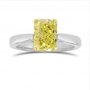 Tapered Shank Solitaire Diamond Ring Setting, SKU 2041S