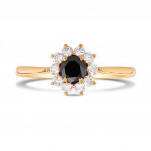 Black Diamond Floral Halo Ring, SKU 228892 (0.64Ct TW)