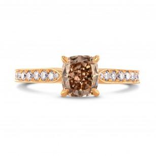 Fancy Brown Cushion & Pave Diamond Ring, SKU 230355 (1.60Ct TW)