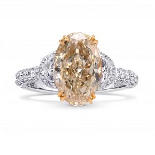 Very Light Brown Oval Diamond Ring, SKU 238013 (4.01Ct TW)