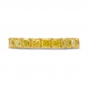 Fancy Intense Yellow Radiant Diamond Band Ring, SKU 243118 (1.51Ct TW)
