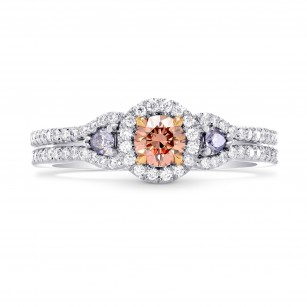 Argyle Fancy Orangy Pink & Fancy Blue Diamond Ring, SKU 247693 (0.64Ct TW)