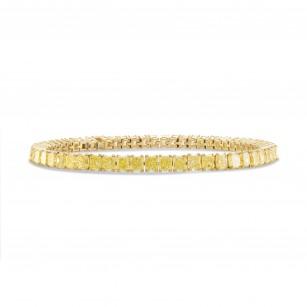 Fancy Yellow Radiant Diamond Tennis Bracelet, SKU 247780 (10.21Ct TW)