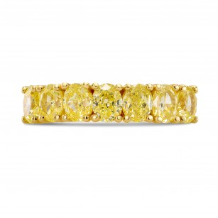 Fancy Yellow Oval Diamond Band Ring, SKU 248732 (2.46Ct TW)