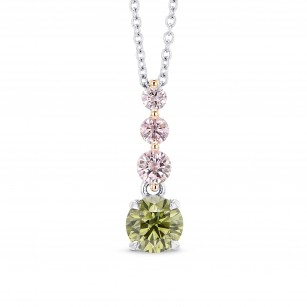 Round Chameleon & Fancy Pink Diamond Drop Pendant, SKU 248913 (0.68Ct TW)