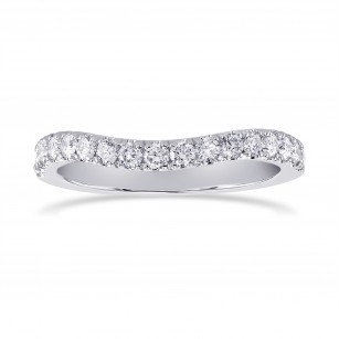 Contoured Open Pave Diamond Wedding Band, SKU 24920R (0.40Ct TW)