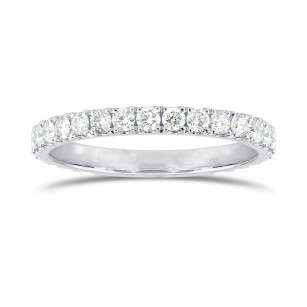 Yellow pink diamond wedding bands leibish open pave diamond half eternity ring sku 25500r 030ct tw junglespirit Choice Image