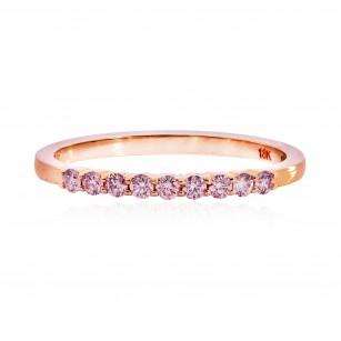 Pink Diamond 9 Stone Stacking Band Ring, SKU 25530R (0.17Ct TW)