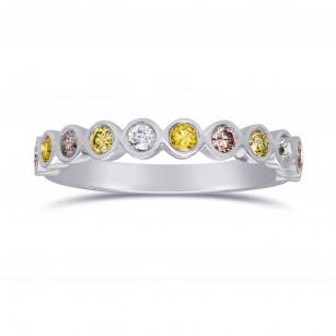 11 Stone Multicolored Diamond Stackable Bezel Band Ring, SKU 25538R (0.30Ct TW)