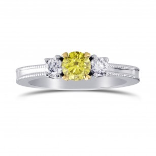 3 Stone Milgrain Diamond Ring Setting, SKU 2581S