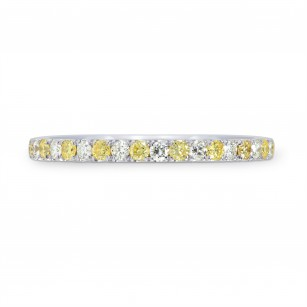 Fancy Intense Yellow and White Diamond Band Ring, SKU 26153R (0.30Ct TW)
