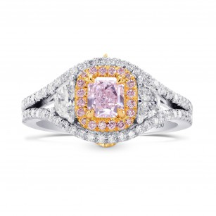 Fancy Light Purplish Pink & Half Moon Diamond Ring, SKU 262275 (1.15Ct TW)
