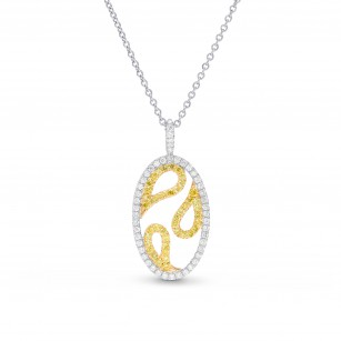 Fancy Intense Yellow & White Diamond Pendant, SKU 26250R (0.45Ct TW)