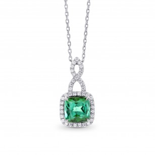 Green Tourmaline & Diamond Drop Pendant, SKU 262820 (1.83Ct TW)