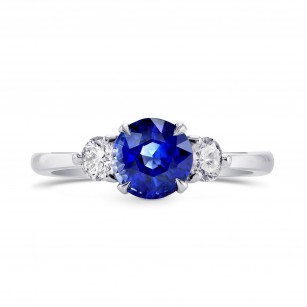Sapphire & Diamond 3 Stone Engagement Ring with Yellow Diamond Accent, SKU 264690 (1.88Ct TW)