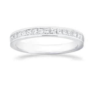 Princess Diamond Half Eternity Wedding Ring, SKU 26474R (0.50Ct TW)