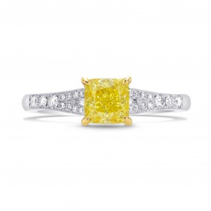 Fancy Intense Yellow Radiant Diamond Engagement Ring, SKU 264887 (1.18Ct TW)