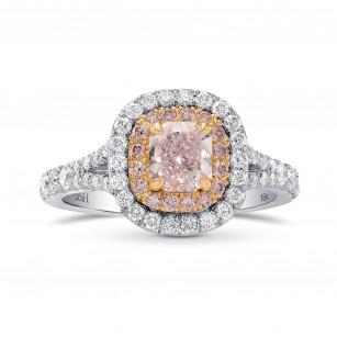 Fancy Light Purplish Pink Radiant Diamond Halo Ring, SKU 266851 (1.46Ct TW)
