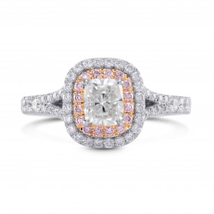 White & Pink Halo Diamond Ring, SKU 26801R (1.60Ct TW)