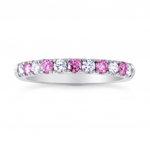Pink Sapphire & White Diamond Wedding Band, SKU 26827R (0.44Ct TW)