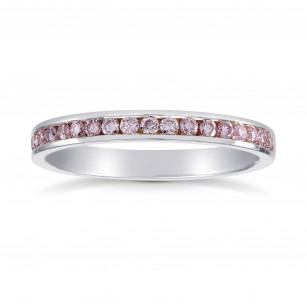 Pink Diamond Channel Set Wedding Band Ring Sku 26876r 0 25ct Tw